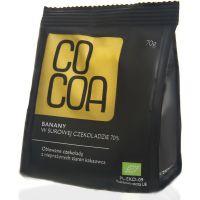BANANY W CZEKOLADZIE 70% BIO 70 g - COCOA